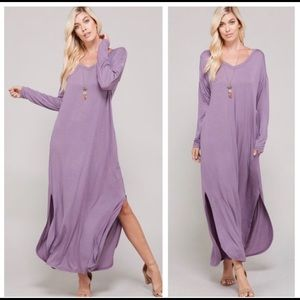 Dresses & Skirts - Long sleeve maxi dress with pockets